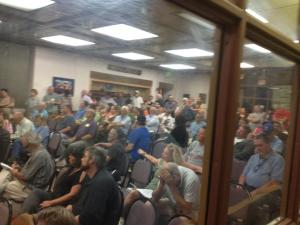 Gun rights supporters to opposition was about 3 to 1.   Photo credit Sam LeDoux.