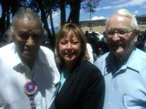 Taos Pueblo Gov.  Tony Reyna, New MexicoGov. Susana Martinez, former New Mexico Gov. David Cargo