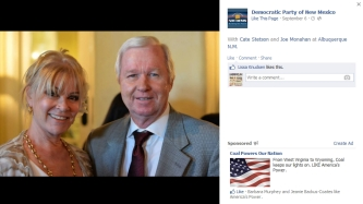 Joe Monahan attends the Democratic Party of New Mexico fundraising dinner last fall.