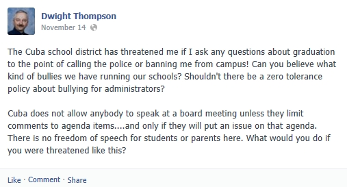 DwightThompson FB Post - CIS