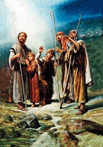 Shepherds in Fields