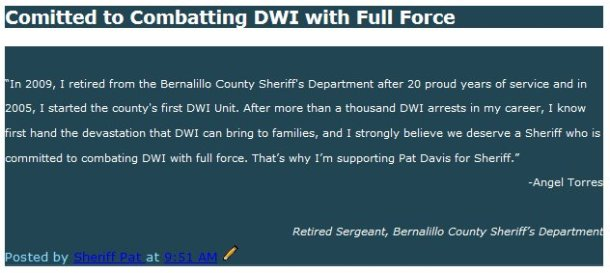 Committed to Combatting DWI