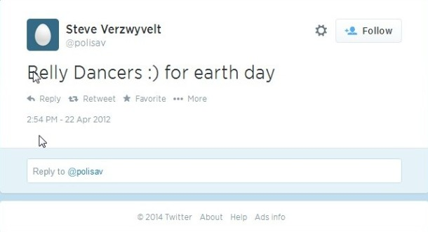 Disparaging comment toward women for Earth Day 2012