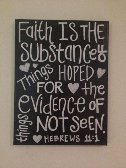 Bible- Faith is the substance