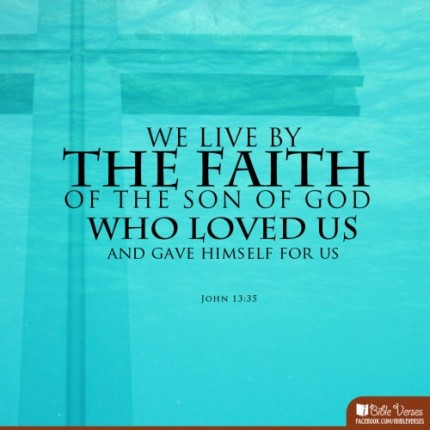 Bible- live by faith in the Son