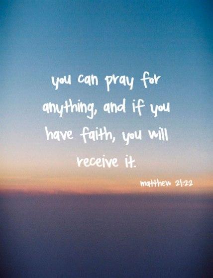 Bible- pray faith