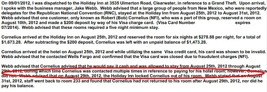 Police Report Cornelius Credit Card Fraud And Embarrassed Republicans Political Fireball